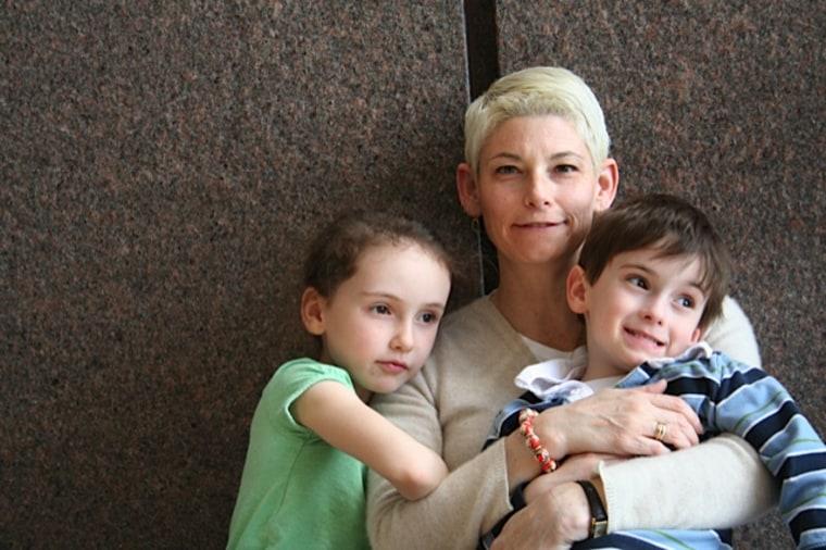 Tracey Neylon homeschools her children and teaches them cursive writing.