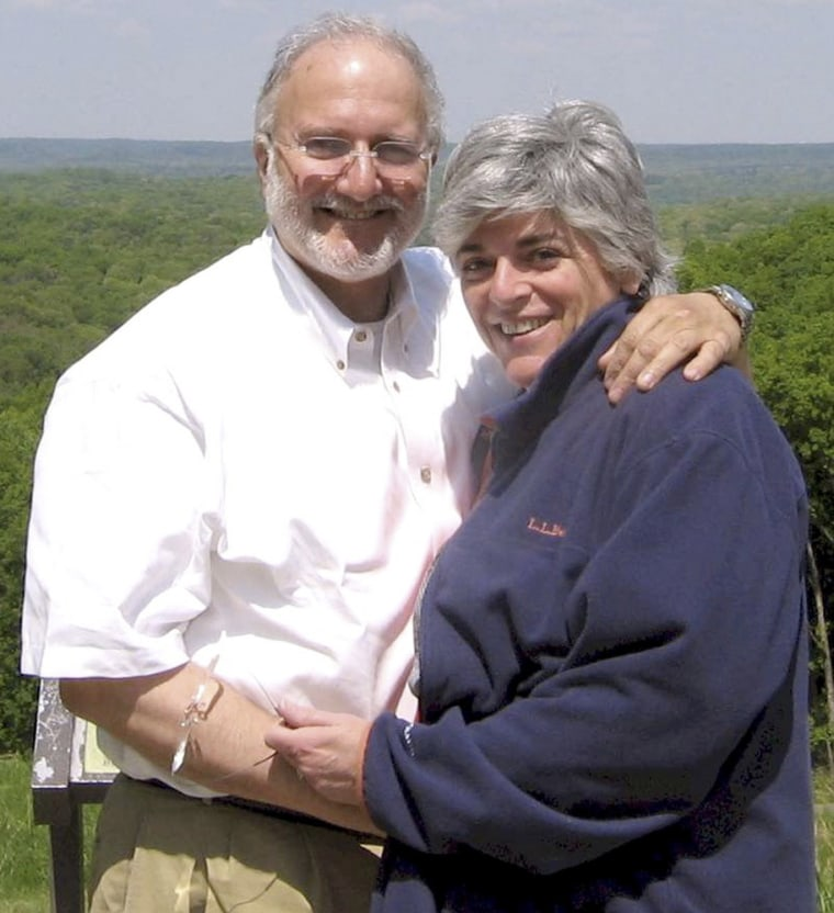 Alan Gross (left, with wife Judy) went to trial March 4, 2011 in Cuba on charges he sought to undermine Cuba's government by bringing communications equipment onto the island illegally. A court found the U.S. contractor guilty of crimes against the state and sentenced him to 15 years in prison.