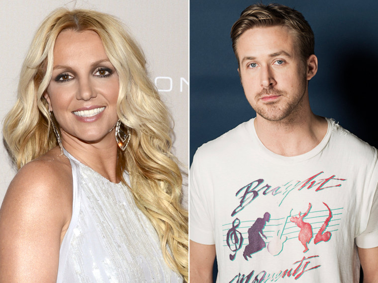 Britney Spears and Ryan Gosling.