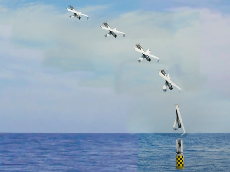 IMAGE: Time-lapse photo of drone launch from USS Providence N