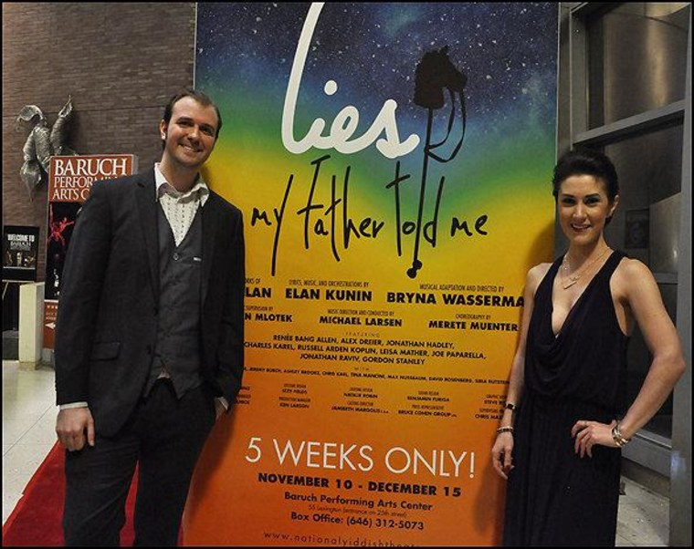Chris Massimine and Caitlin Kelly at the opening night of the American premiere of