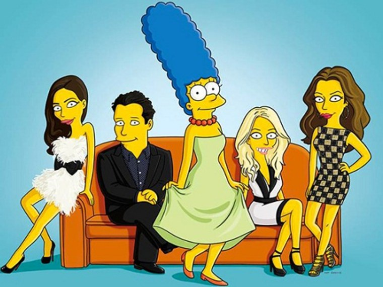 """Image: Marge Simpson joins \""""Project Runway: All Stars.\"""""""