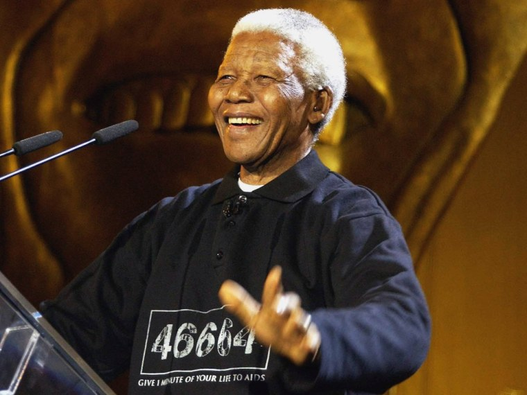 (FILE PHOTO) Former South African President Nelson Mandela Has Died CAPE TOWN - NOVEMBER 29: Nelson Mandela performs at The Nelson Mandela Foundation...
