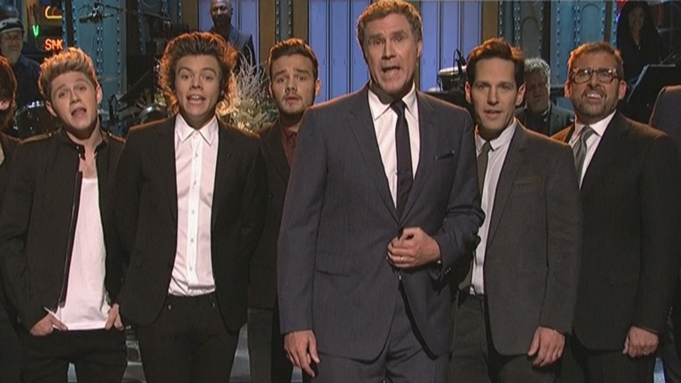 Paul Rudd and 'Anchorman' stars take on One Direction on 'SNL'