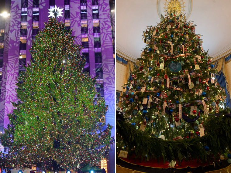 Multi-colored or white lights? That's the big question when it comes to Christmas tree lights.