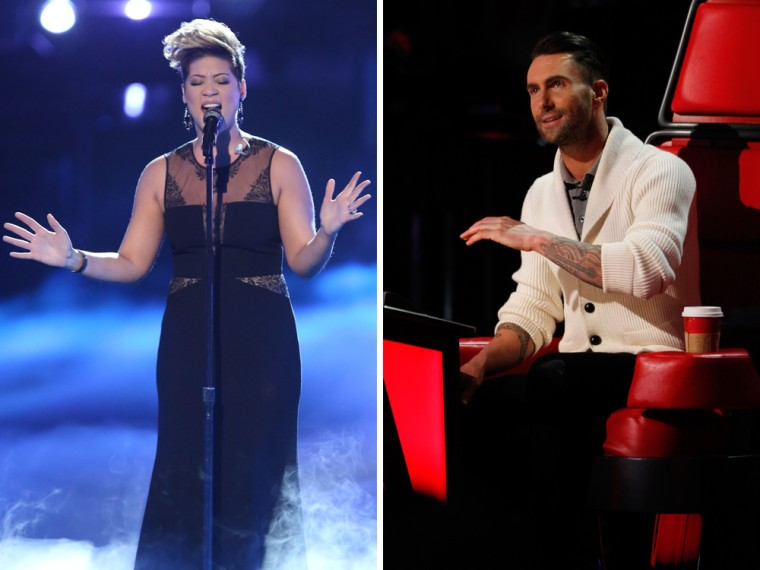 Image: Tessanne Chin and Adam Levine on The Voice