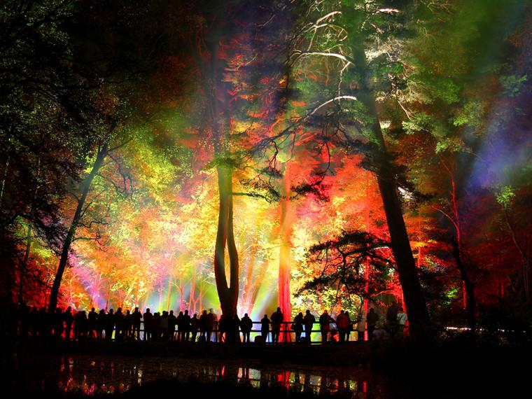 Light show in Scotland