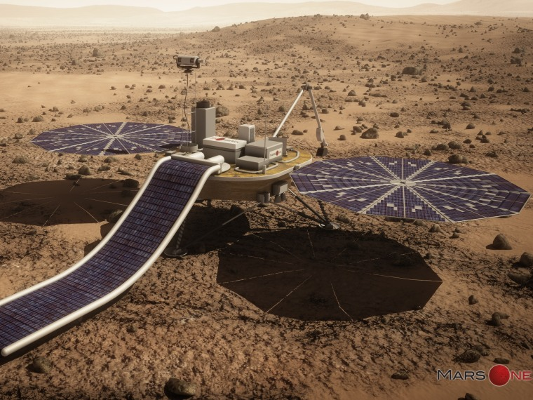 Mars One unveils plan for private Red Planet robotic mission in 2018