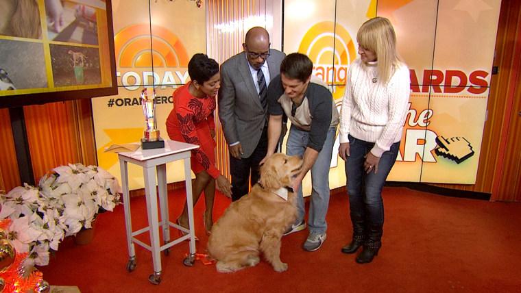 Ray Charles won the Pet of the Year Orange Room award