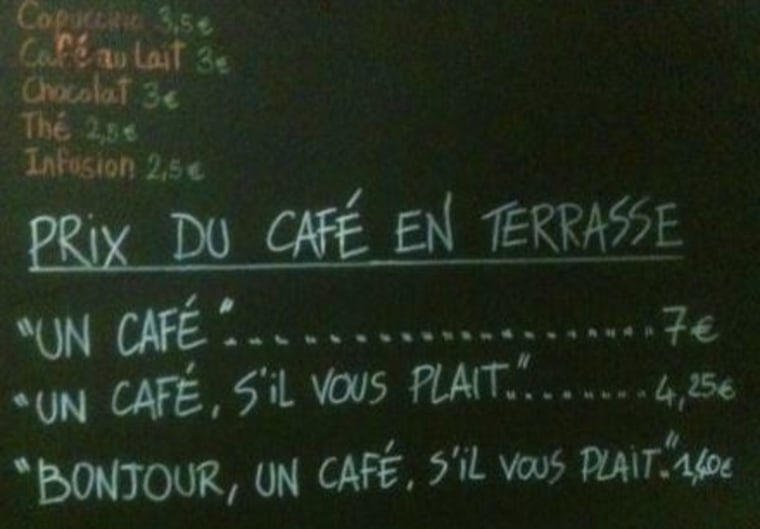 cafe rude prices