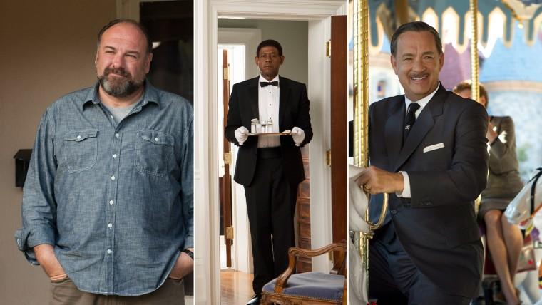 Image: James Gandolfini, Forest Whitaker and Tom Hanks.