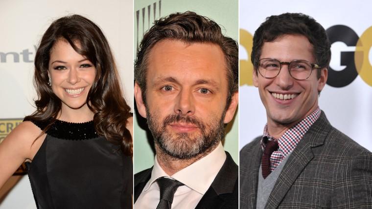Image: Tatiana Maslany, Michael Sheen, Andy Samberg