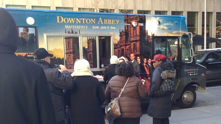 Lines were long at the Downton truck, which parked in NYC to promote the show's upcoming season.