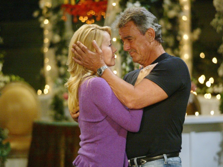 """Melody Thomas Scott, Eric Braeden """"The Young and the Restless"""" Set CBS Television City 8/2/05 ©Aaron Montgomery/jpistudios.com 310-657-9661 Episode # ..."""