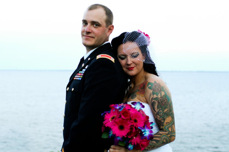 Real wedding: Bright Florida ceremony for military duo