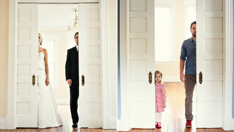 Ben and Olivia recreate a photo he once took with his late wife.