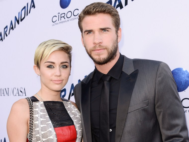 Image: Miley Cyrus and Liam Hemsworth
