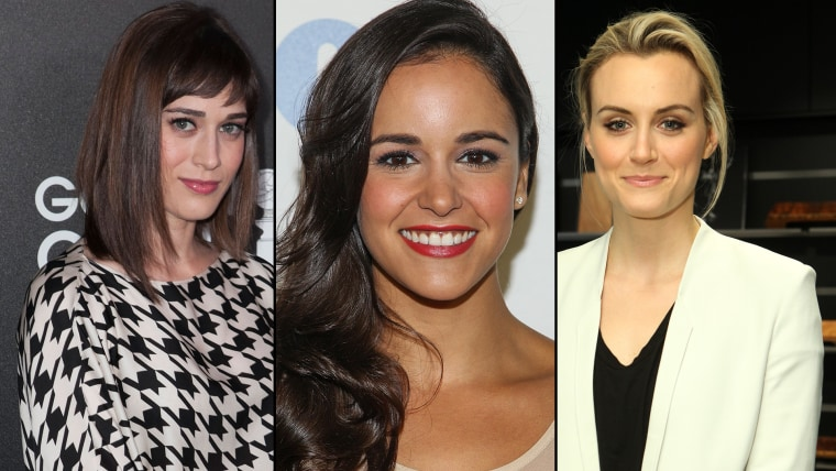"""Lizzy Caplan of """"Masters of Sex,"""" Melissa Fumero of """"Brooklyn Nine-Nine"""" and Taylor Schilling of """"Orange is the New Black."""""""