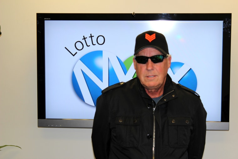 """""""You're not getting a smile, nothing,"""" Tom Crist told the cameraman for the required Western Canada Lottery Corp. picture. Crist donated the entirety of his winnings to cancer research in honor of his late wife."""