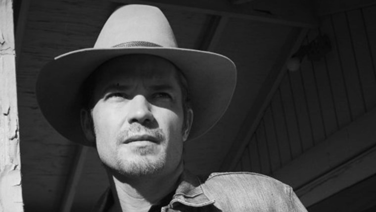"""Tim Olyphant is Raylan Givens on """"Justified."""""""