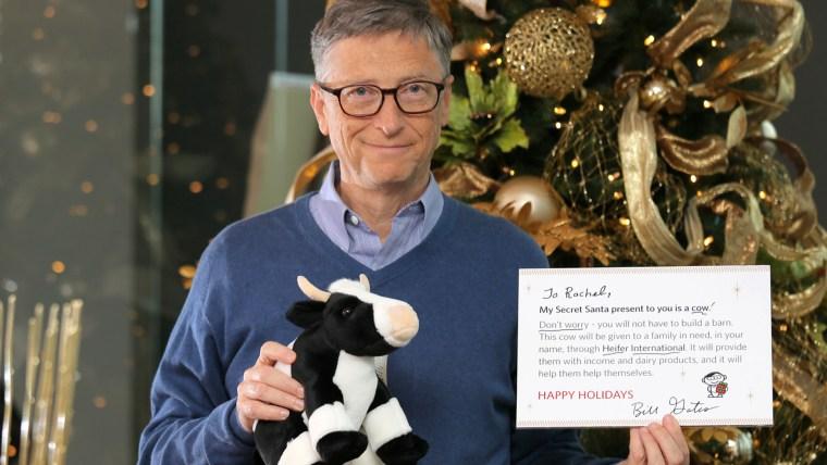 Surprise! Woman finds out Bill Gates is her Secret Santa