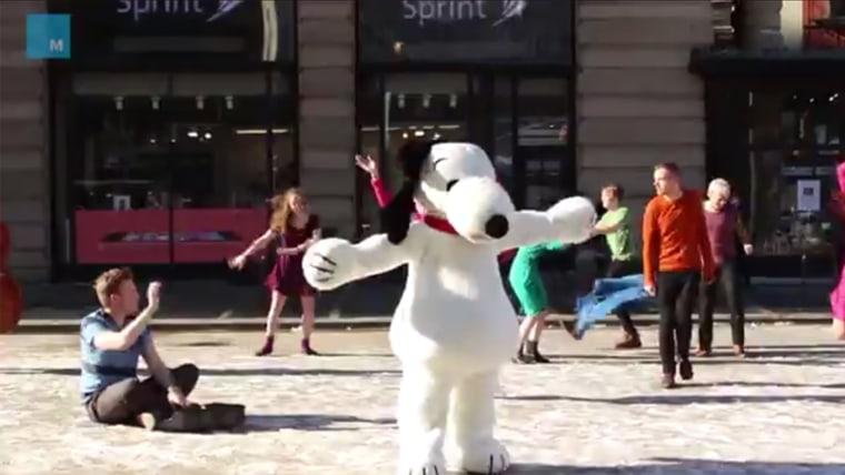 A Peanuts flashmob