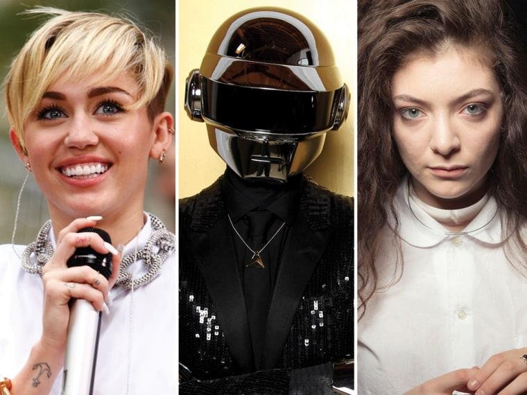Image: Miley Cyrus, Daft Punk, Lorde