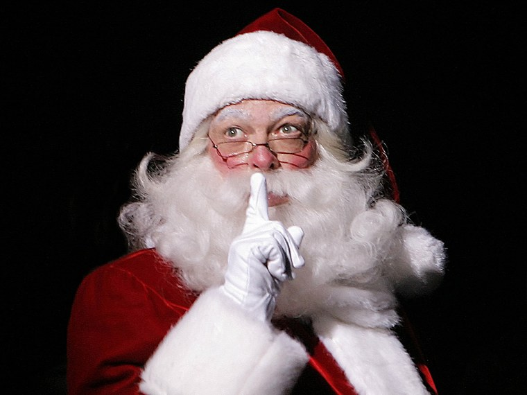 """This image released by MSG Entertainment shows Charles Edward Hall as Santa Claus in the """"Radio City Christmas Spectacular,"""" in New York. Hall has..."""