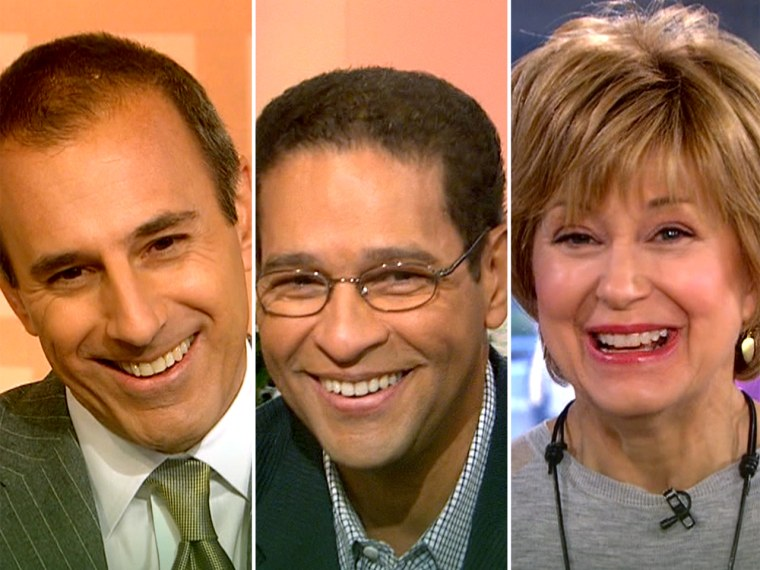 Matt Lauer, Bryant Gumbel and Jane Pauley will appear on the TODAY Show together again.