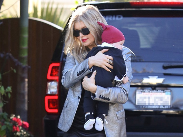 Image: Fergie and son Axl