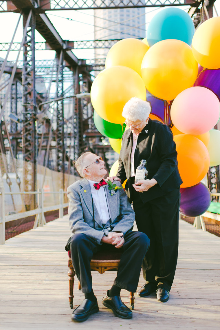 Couple celebrates 61 years of marriage in 'Up'-inspired shoot