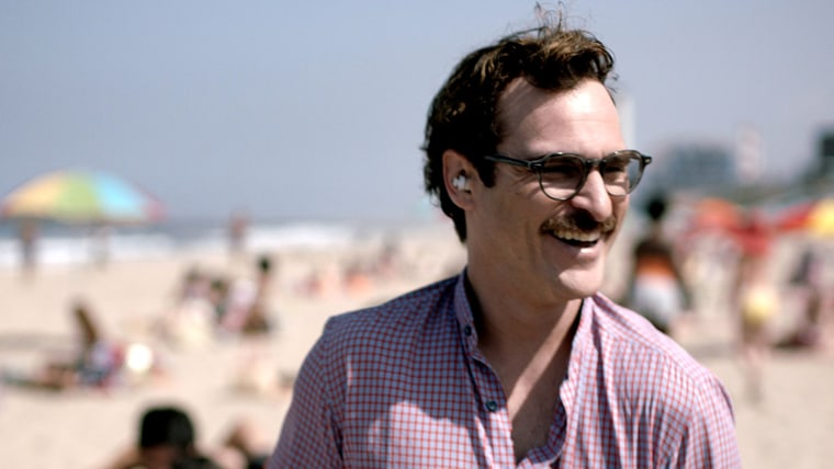 "This image released by Warner Bros. Pictures shows Joaquin Phoenix in a scene from ""Her."""