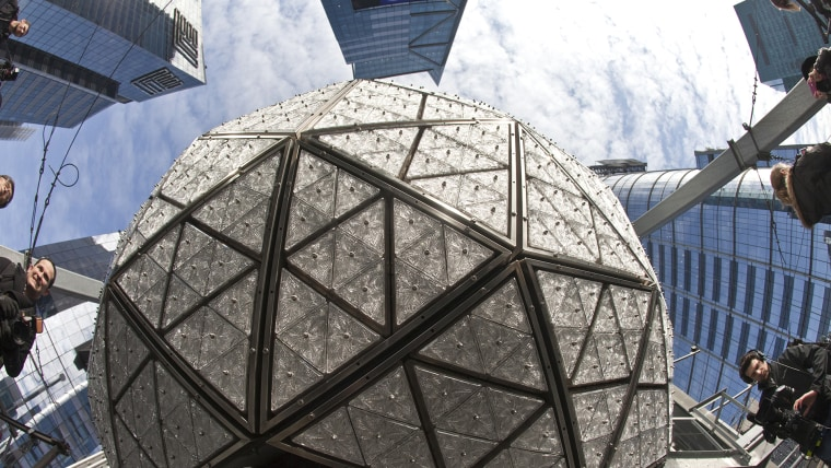 The New Year's Eve ball in Times Square