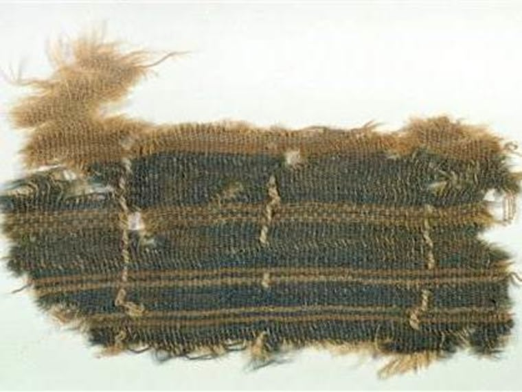 A 2,000-year old textile that appears to contain a mysterious blue color described in the Bible, one of the few remnants of the ancient color ever discovered.