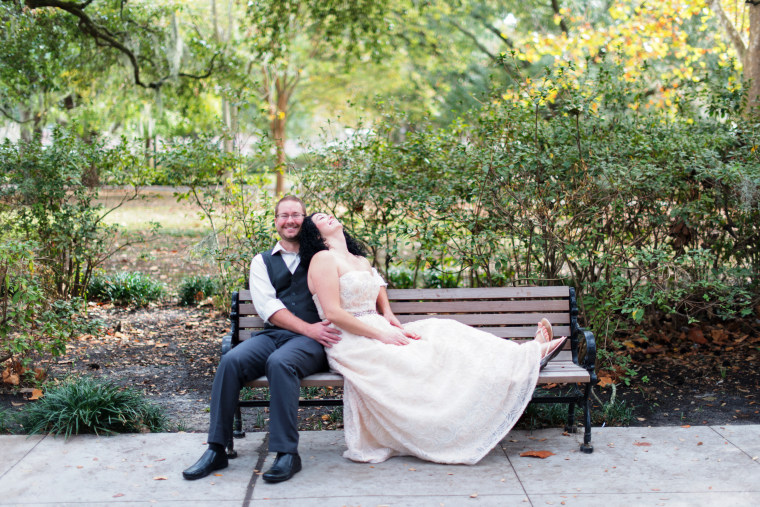 """Of her fall nuptials, MaryBeth Eustice said """"We just wanted it to be about us."""""""