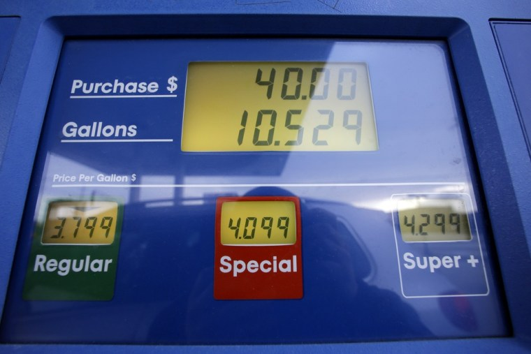 Gas prices are displayed at a Mobil gas station in Chicago, Thursday, Jan. 31, 2013. Gasoline prices are climbing as rising economic growth boosts oil...