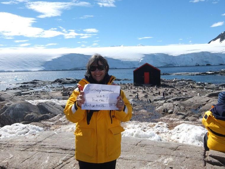 Evelyn Hannon in Antarctica