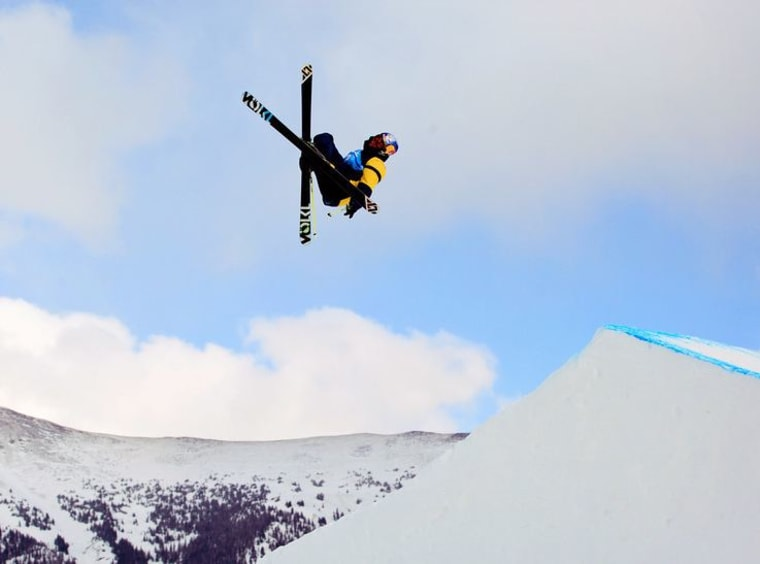 Russell Henshaw competes in the men's slopestyle finals at the 2013 Visa U.S. Freeskiing Grand Prix. Slopstyle skiing features high-flying tricks and makes its Olympic debut in Sochi in 2014.