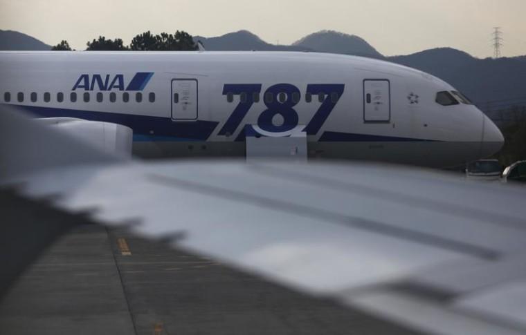 All Nippon Airways' Boeing 787 Dreamliner is seen Jan. 19, 2013.