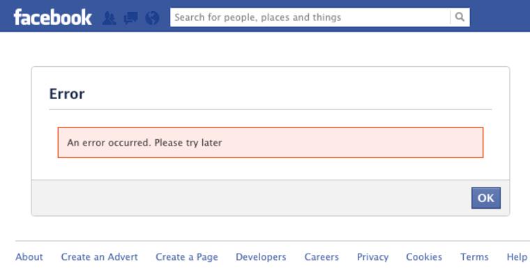 FB error