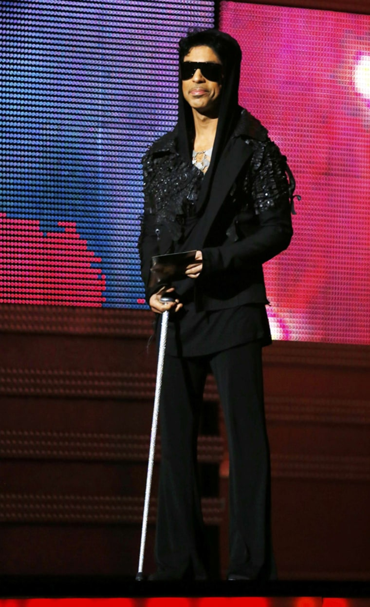 Prince's cane was stylish, but also practical.