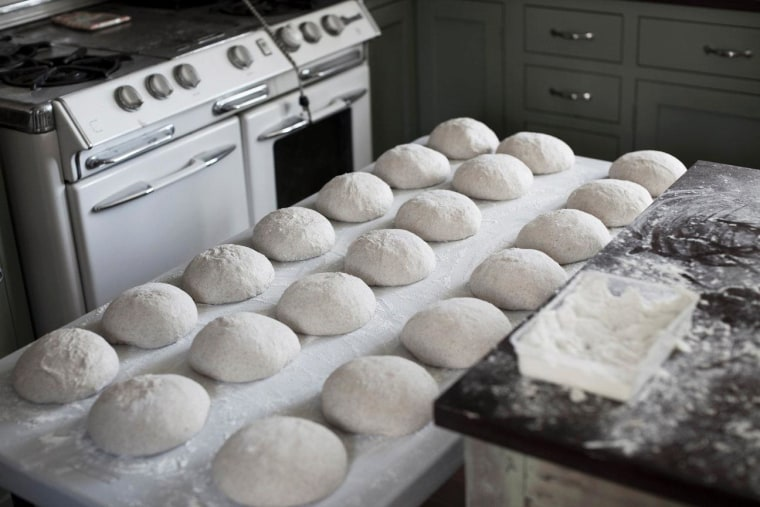 Mark Stambler's kitchen, where his naturally-leavened loaves made with hand-ground flour rise.