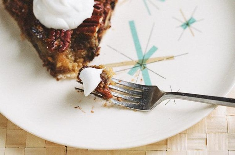 Mollie Brown's chocolate bourbon pecan pie.