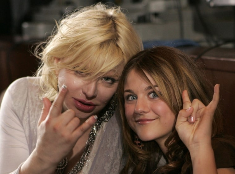 Courtney Love, left, poses with her daughter, Frances Bean, in this May 25, 2005, file photo.