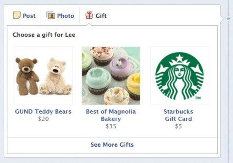 Facebook Gifts Program Lets You Give Real Stuff Good Stuff Even