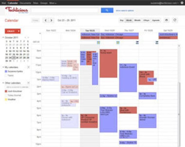 a digital calendar to keep your family organized