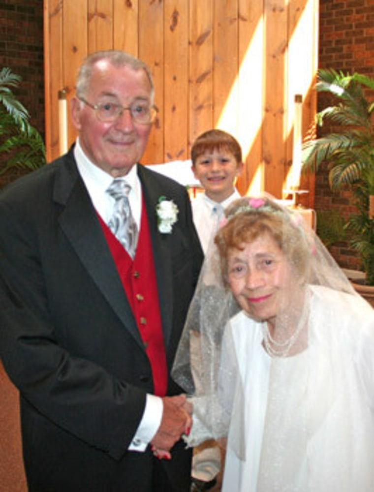 Molly Holder and her groom, Edward Nisbett, on June 18.