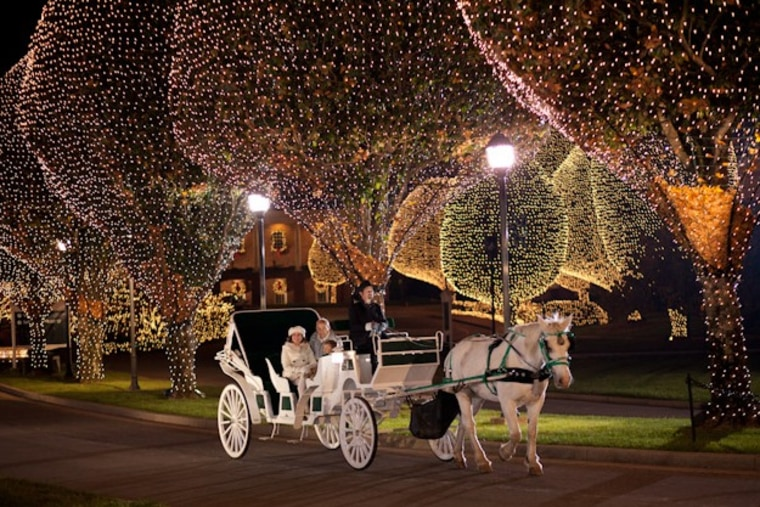 Visitors can enjoy carriage rides during the Christmas festivities at Gaylord Opryland Hotel in Nashville, Tenn.