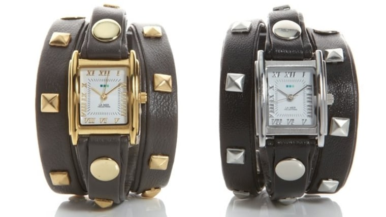 What does Kelly suggest as a stylish gift? The La Mer Studded Wrap Watch ($110) on Opensky.com.