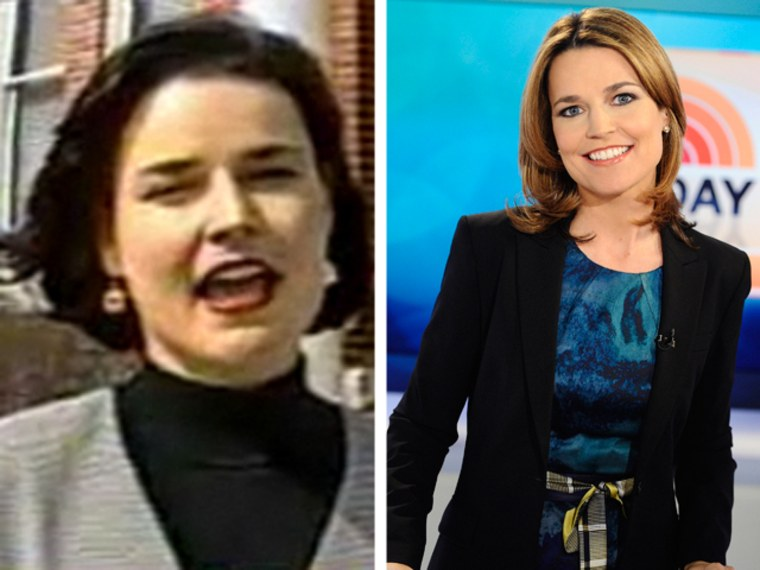 Savannah Guthrie early in her career; and in 2011